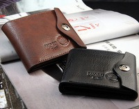 Wobu male genuine leather wallet mens casual pocket buckle wallet wallet star style
