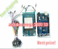 New arrival!!Free shipping!!! 1pcs MEGA 2560+ 1pcs Expansion board(include Breadboard) + USB Cable+20pcs Dupont lines