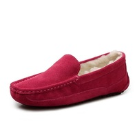 2013 Women Genuine Leather Shoes Fashion Loafers Winter Keep Warm Flats Shoes 100% Quality Guarantee Wholesale Cheap