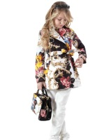 Monsoon 2013 female child double breasted belt trench