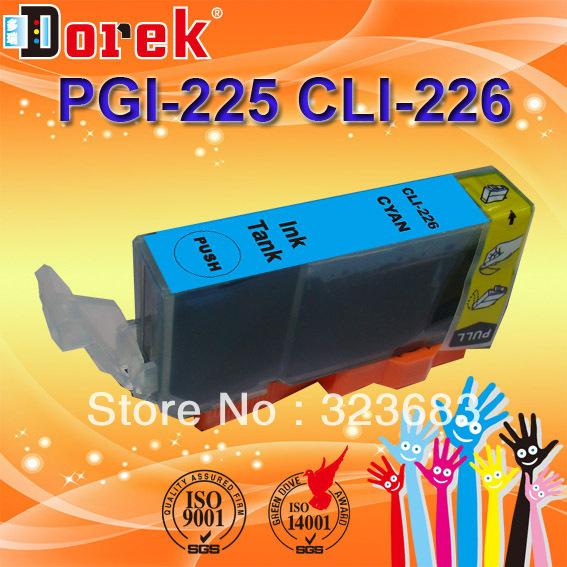 20 pieces/lot,compatible ink cartridge PGI-225/226 sereis four color FOR CANONIX882/IX6520(China (Mainland))