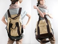 Multi-purpose sports casual canvas big bag handbag messenger bag student backpack men and women bags