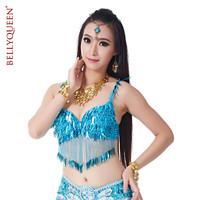 BELLYQUEEN~Belly Dance Costume Top Belly Dance B14# Bra 100%Handmade,Performance Belly Dancing Top,32B/C-34B/C,10Colors
