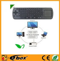 Promotion!!! 2pcs/lot Touchpad Mini Fly Air Mouse RC12 2.4GHz wireless Keyboard for android Mini PC TV box DHL Free Shipping