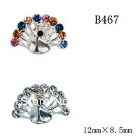100pcs/design  Fashion 3D Alloy  Crystal  Nail art Decoration of 3D alloy 3D nail art studs  B467-B468
