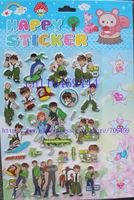 Free Shipping ! 20 Sheets Ben 10 3D Kids Child Children Stickers Popular Cartoon Sticker Wholesale/ Kids DIY Toy/ BQ-028