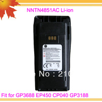 10pcs DHL free shipping free NNTN4851AC 1800MAH Li-ion Radio 2 Way battery pack for GP3688 EP450 CP040 GP3188 CP-3688