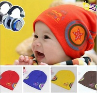 Cotton baby hat Korean version the double sets headphone head cap warm winter free shipping,MZ14012