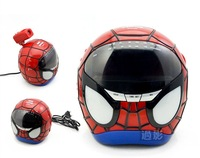 Amazing Spider Man Pattern Digital Radio Projection Alarm Clock Wholesale 30pcs/lot