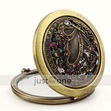 de bolsillo elegante estilo retro vintage mariposa maquillaje cosméticos espejo compacto(China (Mainland))