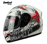 Free Shipping!Tanked Racing Motorcycle Helmets,winter Helmet, Full Face Helmets,Totem printing,ECE safe Approved,T112