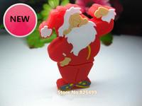 UFD0385 wholesale freeshipping Hotsale Cute Santa Claus MD613 Gift USB Flash Drive Christmas Gift USB Flash Disk drive  4GB-32GB