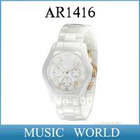 Free shipping New Men's AR1416 CERAMIC CHRONOGRAPH WATCH Gents AR 1416 Wristwatch Original box