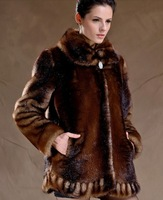 Female winter 2013 marten velvet fur overcoat mink color block patchwork mm outerwear medium-long