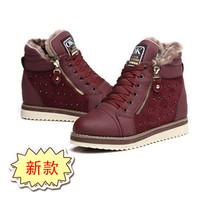 Women's shoes 2013 high thermal boots waterproof platform winter boots rhinestone rabbit fur martin snow boots