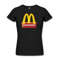 Nice Slim Clothing Casual Women Apparel Shirts Mcdonald Pattern Free Shipping