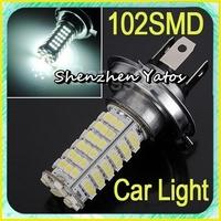 50pcs H4 12V 3528 102SMD LED Car Head Light Lamp Bulb White LED