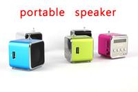 TD-V26 Portable USB TF Card Radio Mini Digital Speaker high pure sound Multi-colours 200pcs DHL Free Shipping