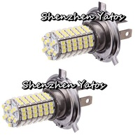 20pcs H4 120 LED 3528 SMD White Fog Light Bulb Lamp DC 12V Super Bright