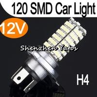 20pcs H4 3528 120SMD Headlight Bulb Car Fog Light Lamp DC 12V