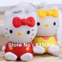 Hot Silicone Hello Kitty usb flash drive 1GB 2GB 4GB 8GB 16GB 32GB 64GB usb 2.0 Free Shipping