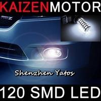 10pcs H4 120SMD 3528 Car LED Front Fog Light Headlight Lamp  12V White