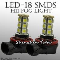 10pcs H11 18 SMD 5050 12V Auto LED Fog Day Light Lamp Car Bulb
