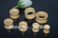 70pcs Free shippment  Body Jewelry -Carved Bamboo Wood Flesh Tunnels Smooth Wooden Ear Stretching Kit Plugs