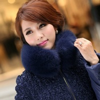 Winter women's exquisite blue fox fur collar thickening thermal medium-long down coat  ,free shipping