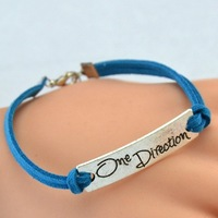 Sunshine jewelry store fashion antique silver one direction bracelets & bangles S192 ( $10 free shipping )