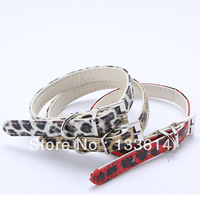 Leopard Printed Chic Collar Sweet Pet Dog Puppy Cat Buckle Leather Neck Strap LX0151 Drop shipping & Free shipping