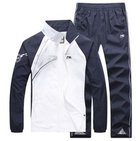 2013 embroidered logo stand collar casual set male fashion sportswear set