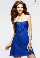 New Simple Chiffon A-Line Off-Shoulder Sleeveless Short Cocktail Prom Dresses Customize
