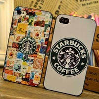 1PCS,2013 Fashion Starbucks coffee phone case for iphone 4 4S 5 5G 5S protective Hard case for apple 5,free shipping