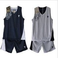 Free shipping double-sided basketball clothes breathable mesh sportswear Reversible