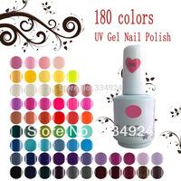 180 Colors RJ High Quality Soak Off UV LED Nail Gel 12pcs/Lot(10 Color Gel+1 Base +1Top Coat) Nail Art Lacquer Polish
