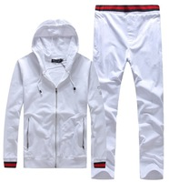 G male sports set 2013 autumn and winter male 100% cotton cardigan with a hood sweatshirt outerwear health pants sportswear