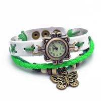 New Genuine leather /Cow Leather Wristwatches Vintage Retro little hammer Watch Women Quartz women's dress watches Free ship