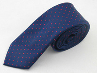 free shipping,Man necktie/polyester/navy/red dot pattern/Han edition style/men's fashion narrow tie,The boy's favorite