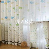 Dollarfish quality imitation hemp cloth cartoon baby child real curtain
