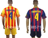 top quality barca Cesc Fabregas #4 mens soccer football jerseys shirt uniforms embroidery customize team logo home blue away