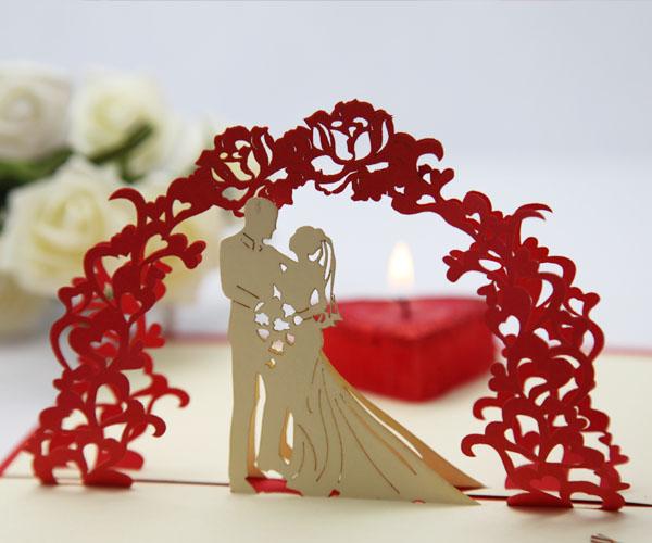 Объёмные открытки на свадьбу