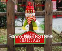 2013 Christmas Snowman Plate  Doors and Windows Felicilate Pendant Decoration
