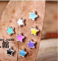 2013 new hot Korean men and women couple pentacle star magnet earrings magnet magnetic earrings non pierced ears