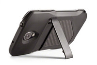 Free shipping Case phone cover with Carbon Fiber Back Stand case for Samsung Galaxy S4 i9500