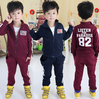 2013 autumn and winter digital boys clothing child casual fleece sports set tz-1027