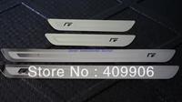New Stainless Door Sill Scuff Plate For VW Golf 6 MK6 MK4 Jetta 6 MK6 Passat CC B6  Black R Ulitra Slim