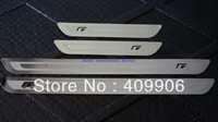 New Stainless Door Sill Scuff Plate For VW Golf 6 MK6 MK4 Jetta 6 MK6 Passat CC B6  Black R Ulitra Slim