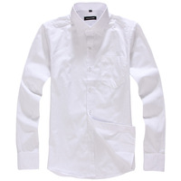 Male shirt long-sleeve business formal white shirt slim easy care tooling work wear