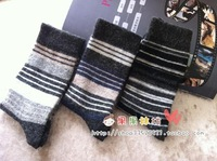 wool commercial men's socks thermal socks elegant stripe series